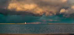 The Calumet Bar lighthouse,  Lake Michigan. (The Sergeant AGS (A city guy)) Tags: eastside lakemichigan lighthose calumetbar exploration storm colors waterways walking travelformyjob sony sonya58 minoltamaxxumlens lake
