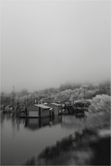 Boathouses (PhotoAtelier) Tags: ir shot with canon rebel xt converted by lifepixel deep bw infrared 830nm