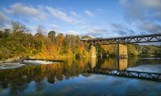 VIA rail over the Bridge