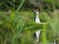 Steph & Kirk - reflections by the lake (johnnewstead1) Tags: em1 olympus mzuiko wedding weddingphotography weddingphotographer weddingday weddingdress barnhambroom norfolk norfolkwedding norfolkweddingphotographer simonwatson simonwatsonphography johnnewstead we