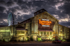 Dolly Parton's Lumberjack Adventure Dinner & Show (donnieking1811) Tags: tennessee pigeonforge dollyparton lumberjackadventuredinnershow architecture building buildings clouds dawn ferriswheel canon 60d