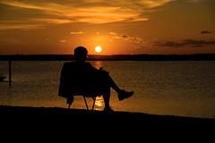 Reading (Daveyal_photostream) Tags: ocean sunset sun seascape man water beautiful beauty silhouette clouds photoshop reading newjersey chair sitting stunning sunsetpark sunsetting lightroom goldenlight wildwoodnewjersey d600 wildwoodcrest greatphotographers mycamerabag anawesomeshot mygearandme meandmygear