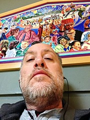 Day 1053 - Day 323: Before rehearsal (knoopie) Tags: november selfportrait me doug year3 picturemail iphone 2014 centerhouse day323 knoop 365days knoopie 365more 365daysyear3 day1053
