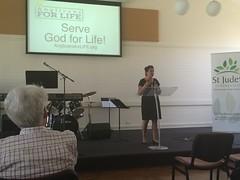 Presentation at St. Jude's on Sunday.