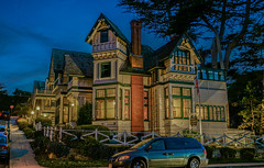 Green Gables Inn - DSC1353--Pacific Grove, CA (Lance & Cromwell back from a Road Trip) Tags: california nightphotography monterey availablelight queenanne sony victorian montereycounty pacificgrove a57 greengables montereypeninsula pacificgroveca sonyalpha greengablesinn sal1650