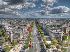 view from above (Andrew Kettell) Tags: paris de arc triomphe