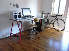 New setup (shumpei_sano_exp2) Tags: horse home bicycle computer office mac desk setup