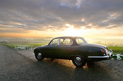 Jaguar 3.4 S (stu dag) Tags: cars car countryside model hill s automotive lancashire motors jag british motor jaguar 34 billinge