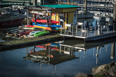 Humboats_52/365 (Beth in NorCal) Tags: reflections day52 day52365 365the2015edition 3652015 21feb15 woodleymarina