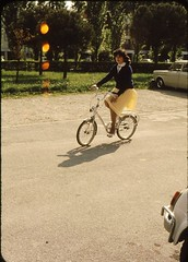 My aunt cycling Easter 1982 (Patrick_Glesca) Tags: italy bike bicycle easter cycling 1982 bici padova bicicletta pushbike mortise