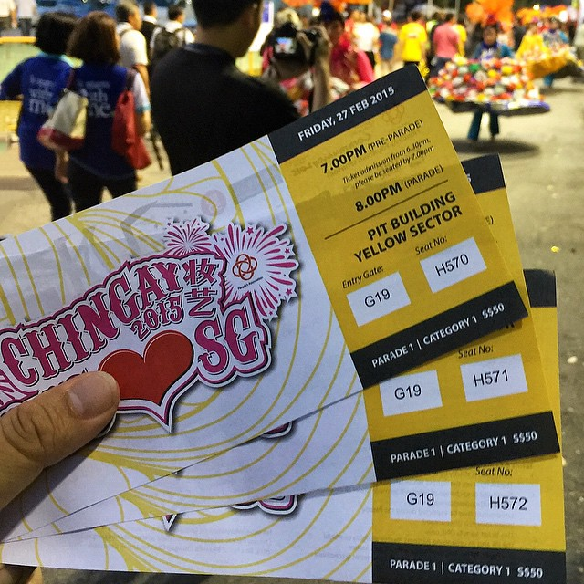CHINGAY 2015 妆艺 WE ❤️ SG SPECIAL SG50 EDITION • CHINGAY PARADE 1  Attending this grand event with Stanley (@stanley_chee) & Ernest (@412.am).  Thanks @sgig for the tickets! 🙏😊