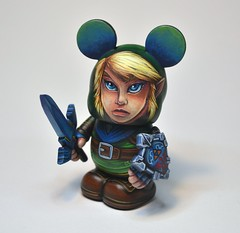 Hyrule Link (Jared Circusbear) Tags: urban art toy mouse handmade painted nintendo vinyl mickey pop kidrobot plastic fantasy figure link sword zelda shield collectible custom figurine legend dunny funko hyrule circusbear munny vinylmation munnyworld