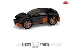 Bugatti Veyron Super Sport (1:65) (lego911) Tags: world auto records car sport vw volkswagen model break lego lets render ss go some super turbo record 88 bugatti coupe supercar challenge holder cad w16 lugnuts 2010 veyron povray faster moc ldd 165 hypercar foitsop lego911 letsgobreaksomerecords