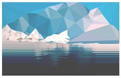 3 (crocodile.drke) Tags: blue cold art ice nature triangles digital landscapes triangle pixel iceberg glitch glitched