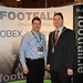 Showtel Richard Mayne, Footfall and Stephen McNally, IHF President