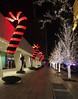 The Lights (Viridia) Tags: christmas nyc newyorkcity trees winter urban newyork building lights cityscape exterior manhattan nightshoot candycanes solowbuilding newyorkcityny westsidenyc newyorkcitychristmas christmas2014