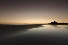 Bamburgh castle (Andrew Whitham Photography) Tags: seascape reflection castle beach golden nikon northumberland bamburgh d800