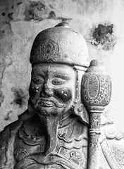 Guard in Mono (Rachel Dunsdon) Tags: mono guard chinese vietnam hanoi templeofliterature