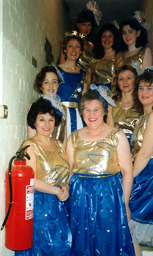 1991 Mother Goose 04 (front left Ann Brothers, Rita Hampton, middle left Elizabeth Ellis,x,Sally Capp, back left Linda Ellis,x,x,x)