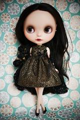 Short Black and Gold Dress