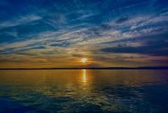 Moment of Zen (Orgullo Canario) Tags: sky italy panorama cloud lake water sunshine clouds lago evening nikon garda italia tramonto peaceful bluesky panoramic zen panoramica quite riflessi grandangolo brescia hdr sunreflection sirmione 1224 gardalake lagodigarda waterandsky d7100