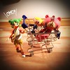 Crazy Shopping (Tramezzini a colazione) Tags: square toy shoppingcart squareformat gloomybear omg japanesetoy yotsuba crazyshopping revoltech iphoneography instagramapp uploaded:by=instagram