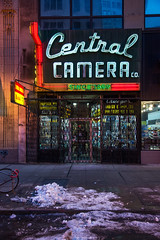 Central Camera (pantagrapher) Tags: camera old chicago classic sign nikon downtown gbrearview loop central wabash florescent chicagoist d600