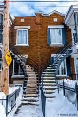 Verdun Street (PierrickBloin) Tags: street houses urban house canada texture architecture canon montreal qubec maison bulding canon400d