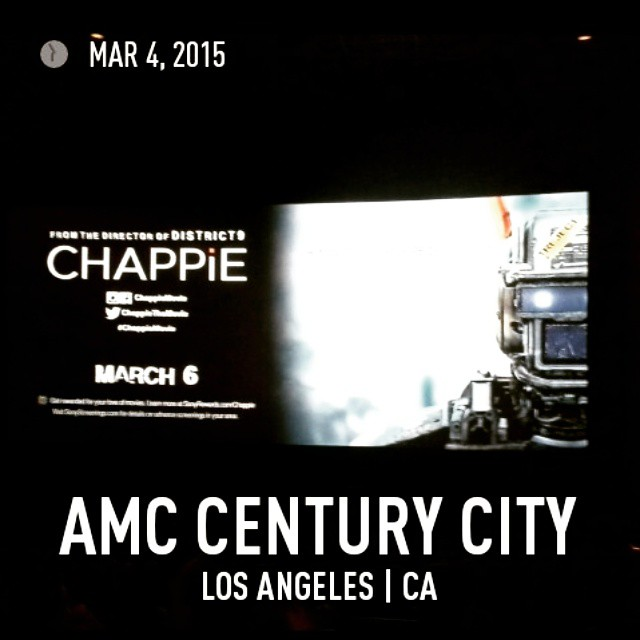 #movie screening #3 of 3 today. @chappiemovie. #CHAPPIE #SharltoCopley #DevPatel #HughJackman #SigourneyWeaver #NeillBlomkamp #film #cinema #movies #films #SouthAfrica