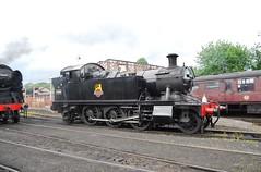 Severn Valley Railway 070716 - DSC_0541 (Leslie Platt) Tags: straightened exposureadjusted shropshire severnvalleyrailway bridgnorth goingtoshed westcountryclass462 4566 262t4500class sir keith park34053
