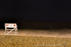 Good Night Summer (digitallloyd) Tags: slow shutter night summer beach asbury park life guard ocean sand jersey shore chair waves asburypark jerseyshore oceanbeach lifeguard slowshutter