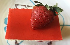 summer treat (saudades1000) Tags: strawberry red dessert treat sweet creamy pastry fraisier fraisiercake