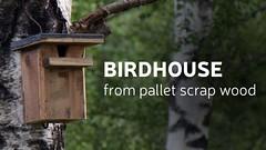 Diy Birdhouse From Scrap Pallet Wood (irecyclart) Tags: garden rustic palletbirdhouse recyclingwoodpallets palletdiyideas
