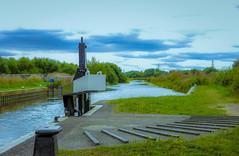 The Lock (williams19031967) Tags: scenic row rowing boat canoe midlands northamptonshire britain uk england welingborough 25mm f17 mft m43 mirrorless canal landscape lumix g6 panasonic nene river