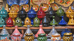 Moroccan Tagines, etc. (Ellsasha) Tags: tagine earthenware pots colors colours morocco northafrica dishes