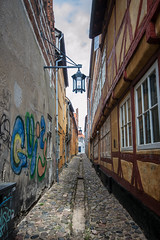 Elsinore (nesnetsirhc) Tags: elsinore denmark hamlet street old color lamp bricks house window symmetry lines leading