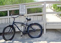 Where to leave your bike (tmattioni) Tags: wheel shipbottom beach