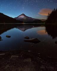 Mt Hood (Brook Terwilliger) Tags: longexposure reflection night oregon stars mthood starry trilliumlake brookterwilliger