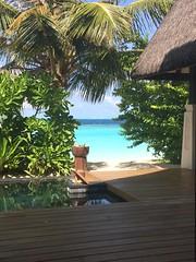 View from sunset beach villa 202 (survivingmaldives) Tags: jumeirah vittaveli maldives survivingmaldives sunset beach villa