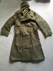 WWII wool overcoat (Huntmster) Tags: olive tan mustard wool coat wwii vintage california america soldier