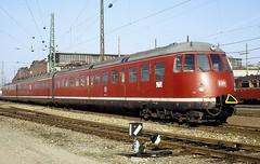 456 107  Heidelberg  13.03.83 (w. + h. brutzer) Tags: analog train germany deutschland nikon eisenbahn railway zug trains db heidelberg 456 eisenbahnen triebwagen triebzug et56 triebzge webru