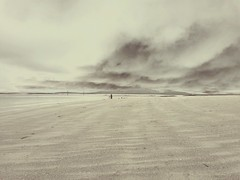 Berneray (Mairead Maclennan) Tags: big sky berneray isle harris hebrides north uist beaches lonely figure inverted beach west
