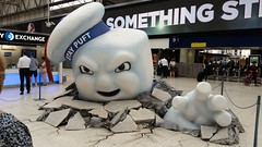 Stay Puft Marshmallow Man - Waterloo Station (sarflondondunc) Tags: staypuftman ghostbusters waterloostation lambeth london marshmallowman