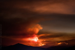 The Eastern Front of the Sand Fire (Kurt Lawson) Tags: 14 apocalypse brush california canyoncountry clarita clouds escondido fire forest highway light losangeles mountains national night orange red sand sandfire santa sky smoke wild wildfire aguadulce unitedstates