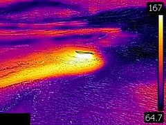 Thermal image of Bottlecap Geyser (morning, 11 June 2016) 1 (James St. John) Tags: bottlecap geyser hill group upper basin yellowstone hotspot volcano wyoming hot springs thermal image temperature