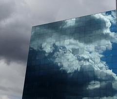 A cloud (agadzicio) Tags: building cloud cloudyday reflection glasspane coventry modernity