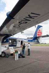 Unloading (Al Henderson) Tags: 400 airport aviation bedfordshire cgvki cfd cranfield dhc dhc6 dehavillandcanada demonstrator egtc twinotter vikingair england unitedkingdom gb