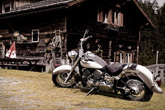 My Motorcycle at the Nockalm High Alpine Road (hl_1001) Tags: austria carinthia highalpineroad nockalm hochalpenstrase mountain house motorcycle alpinehut heiligenbachhütte nockalmstrase