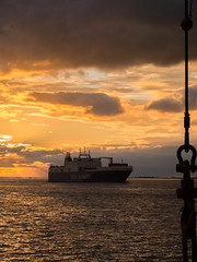 Sunset Grimsby (thulobaba) Tags: dfds seaways vessel ship ferry