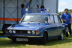 Fast Blue Line (dhcomet) Tags: london herne hill brockwell park lambeth country show triumph 2500 police